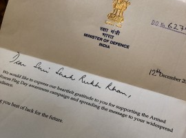 Acknowledging the actor's support and as a token of appreciation the Defense Minister of India, Nirmala Sitharaman sent a heartfelt note to the actor. The note reads,