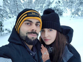 Anushka on Friday shared a cosy selfie with Virat, and the white landscape makes the perfect backdrop.