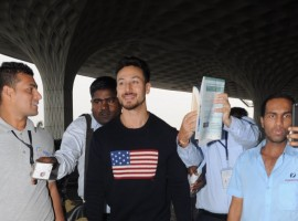 Baaghi 2 actor Tiger Shroff snapped at airport.