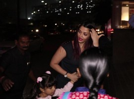 Aishwarya Rai snapped at BKC with Aradhya Bachchan.