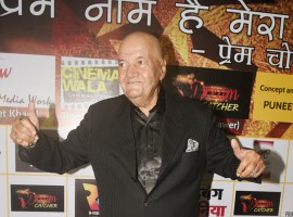 Prem Chopra poses for a photo during his party for completing 60 years in film industry.