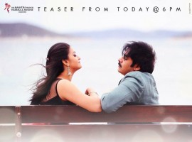 Pawan Kalyan, Keerthy Suresh's Agnathavasi teaser poster.
