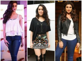 As the weather gets chilled, let's look at some of the winter styled boots our B-Town beauties carried with utmost grace. Alia opted for an ultra-pointed stiletto boot, pairing it with a pair of straight leg jeans. Shraddha, on the contrary, went for an over the knee length boot which went effortlessly with her mini skirt making black the colour of the day. Parineeti made her style statement by pairing a golden & black floral boot with a pair of denim.