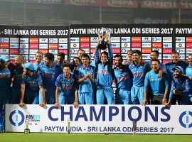 The Indians dominated with both bat and ball, restricting Sri Lanka to 215 runs before Shikhar Dhawan's unbeaten century helped them canter to a big win with 17.5 overs to spare. India have now won every series at home since the defeat to South Africa in October, 2015. The Sri Lankans will continue the search for their first bilateral series win in India. Dhawan, who remained unbeaten on 100, produced a partnership of 135 runs with Shreyas Iyer after the early departure of Indian captain Rohit Sharma.