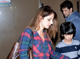 Bollywood actor Hrithik Roshan and ex-wife Sussanne Khan on a movie date with kids.