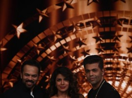 Actress Priyanka Chopra on the first episode of Karan Johar and Rohit Shetty's India's Next Superstar.