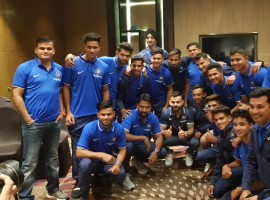 India captain Virat Kohli gave the national U-19 cricket team a quick pep talk here on Wednesday ahead of their departure for the U-19 World Cup. Kohli who captained India's successful team to the U-19 World Cup in 2008, praised current U-19 skipper Prithvi Shaw, hailing him as a special talent. Shaw has already scored five centuries in first class cricket and is expected to be one of the bulwarks of the Indian batting line-up at the U-19 World Cup which is scheduled to start in New Zealand on January 13.