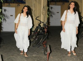 Kajal Aggarwal poses for the cameras at Bandra.