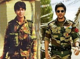 Shah Rukh Khan: He was born Fauji. Shah Rukh Khan's uniforms are always a cut above whether it was the Air Force pilot blues in Veer Zaara or the uber-cool army guy in Yash Chopra's final directorial 'Jab Tak Hai Jaan'.