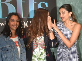 Bollywood actress Deepika Padukone and Anisha Padukone bond with Neha Dhupia at Vogue BFFs.
