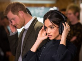 Prince Harry and his fiancee Meghan Markle visit radio station Reprezent FM, in Brixton, London.