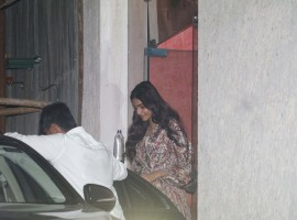 Actress Sonam Kapoor spotted in Bandra while coming out from a clinic
