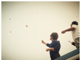 Shah Rukh on Sunday night shared a photograph of himself flying a kite and he said it was fun.