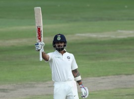 Indian skipper Virat Kohli (85 batting) waged a lone battle to lift the struggling visitors to 183 for five in their first innings on the second day of the second cricket Test against South Africa at the SuperSport Park here on Sunday.
