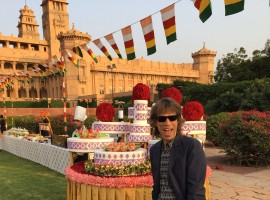 Jagger on Sunday took to Twitter to share a photograph of himself in a shirt paired with a black blazer and pants. He seems to be in Jodhpur's Umaid Bhawan Palace in Rajasthan.