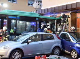 In the accident, the bus got off the road and collided with several cars before crashing head-on into a house wall in the southern German town of Eberbach, Xinhua news agency reported, quoting the Focus Online.