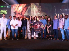 Tamil movie Bhaagamathie music launch event held in Chennai. Celebs like Anushka Shetty, Suriya, Ramya Krishnan and Vidyullekha Raman graced the event.