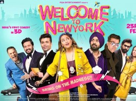 Starring Karan Johar, Diljit Dosanjh, Sonakshi Sinha, Riteish Deshmukh, Rana Duggabatti, Boman Irani, Lara Dutta and a massive ensemble cast, India's first 3D comedy, 'Welcome To New York' is set to be one of the most highly anticipated comedy films of 2018 which also will be Bollywood's first 3D comedy film.