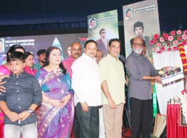 MGR's motion capture film Kizhakku Africavil Raju launched at Chennai. Celebs like Rajinikanth, Kamal Hassan, Sachu, Ambika, Manobala, Sheela, Kutty Padmini and others graced the event.