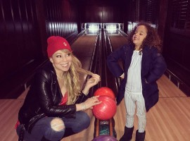 Singer Mariah Carey went bowling with her six-year-old son Moroccan. She took to social media to share a photograph of their experience at the bowling alley.