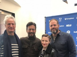 Irrfan on Tuesday tweeted the photograph which also features the film's director Marc Turtletaub.