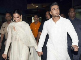 Deepika Padukone and Ranveer Singh attend the special screening of their film 'Padmaavat' held at PVR in Lower Parel, Mumbai.