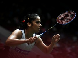 Star Indian shuttler Saina Nehwal brushed aside Thailand's Ratchanok Intanon in straight games to enter the Indonesia Masters women's singles final on Saturday.