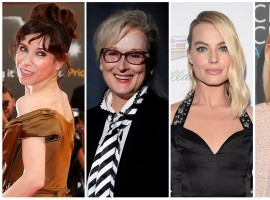 Nominees for the Best Actress Awards (L-R) Sally Hawkins, Meryl Streep, Margot Robbie, Saoirse Ronan and Frances McDormand.