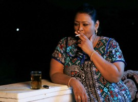 South Indian actress Shakeela's first look from Sheelavathi.