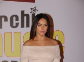 Neetu Chandra gets clicked on her arrival at the 10th Mirchi Music Awards 2018, held at Dome, NSCI in Mumbai.