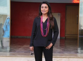 Rani Mukerji at the promotion of her upcoming film