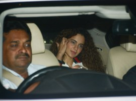 Kangana Ranaut arrives at the special screening of 'Padman' in Mumbai.