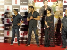 Bollywood movie Raid trailer launch event held in Mumbai.