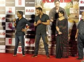 Bollywood movie Raid trailer launch event held in Mumbai.