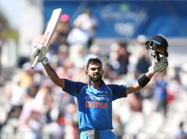 Skipper Virat Kohli slammed his 34th One-day International ton to help India post a competitive 303/6 against South Africa, even as the visitors' untested middle order failed to click in the third of the six-match ODI series, at Newlands here on Wednesday.
