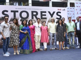 The makers of 3 Storeys launched the trailer of the film in a unique manner at a community-based society in Mumbai. The trailer was launched amidst the localites in the chawl along with the entire cast of the film.