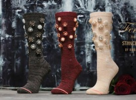 Singer Rihanna has launched a special capsule line of Valentine's Day-themed socks. The new range, which Rihanna has teased on her Twitter account, features three pairs of bejeweled calf-length socks, which are being sold for as much as $125, reports femalefirst.co.uk.