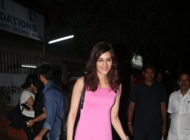 Actress Kriti Sanon spotted at Smoke House Cafe in Bandra.