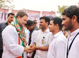 Congress President Rahul Gandhi visit Karnataka on Saturday to connect with people through public meetings and group inter-actions.