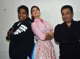 The actress wrapped shooting for the iconic song and addressed the media post her shooting scheduling. Accompanied by Baaghi 2 director Ahmed Khan and choreographer Ganesh Acharya, Jacqueline Fernandez explained that the team was not trying to recreate or match Madhuri Dixit's rendition, but theirs is a tribute to the dancing sensation.
