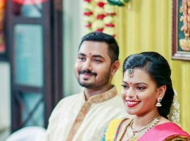 South Indian Actor Parthiban's daughter Keerthana engaged to his longtime boyfriend Akshay Akkineni in Chennai.