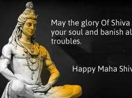 May the glory Of Shiva Shankar uplift your soul and banish all your troubles. Happy Maha Shivratri.