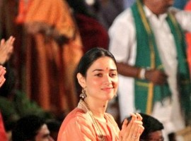 Tamannaah Bhatia having a memorable time attending Maha Shivaratri celebrations at Isha Yoga Center.