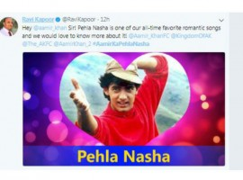 Aamir Khan's tweet and insight into his day sent Twitter into a frenzy, with Twitteratti eager to know about Aamir Khan's first love with #AamirKaPehlaNasha. Over the years, Aamir Khan's Pehla Nasha has achieved the status of being the ultimate love song, with the track being synonymous to Valentine's Day. The song that showcased a young Aamir expressing his feelings for his first love, became and instant rage amidst the audience.