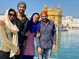 Actor Taapsee Pannu was recently spotted at the Golden Temple, Amritsar to seek the blessings  before commencing her next film Anurag Kashyap's Manmarziyan.
