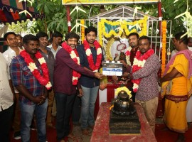 Tamil movie Asura Guru pooja held today in Chennai. Celebs like Vikram Prabhu, Mohan Raja, Kabilan Vairamuthu and others spotted at the event.