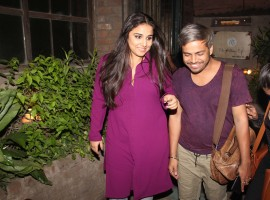 Bollywood actress Vidya Balan spotted in Pali Village cafe at Bandra.