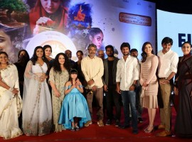 Awe pre-release event held at Hyderabad. Celebs like Nani, Anushka Shetty, Kajal Agarwal, Nithya Menen, SS Rajamouli and others graced the event.
