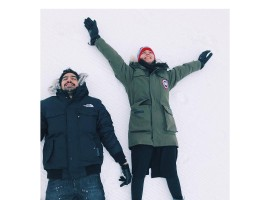 Bollywood actress Alia Bhatt and director Ayan Mukerji enjoy their Brahmastra shoot in Bulgaria.