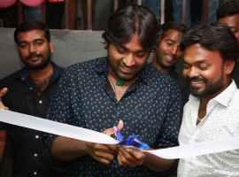 Actor Vijay Sethupathi launches Chals dance studio in Chennai.